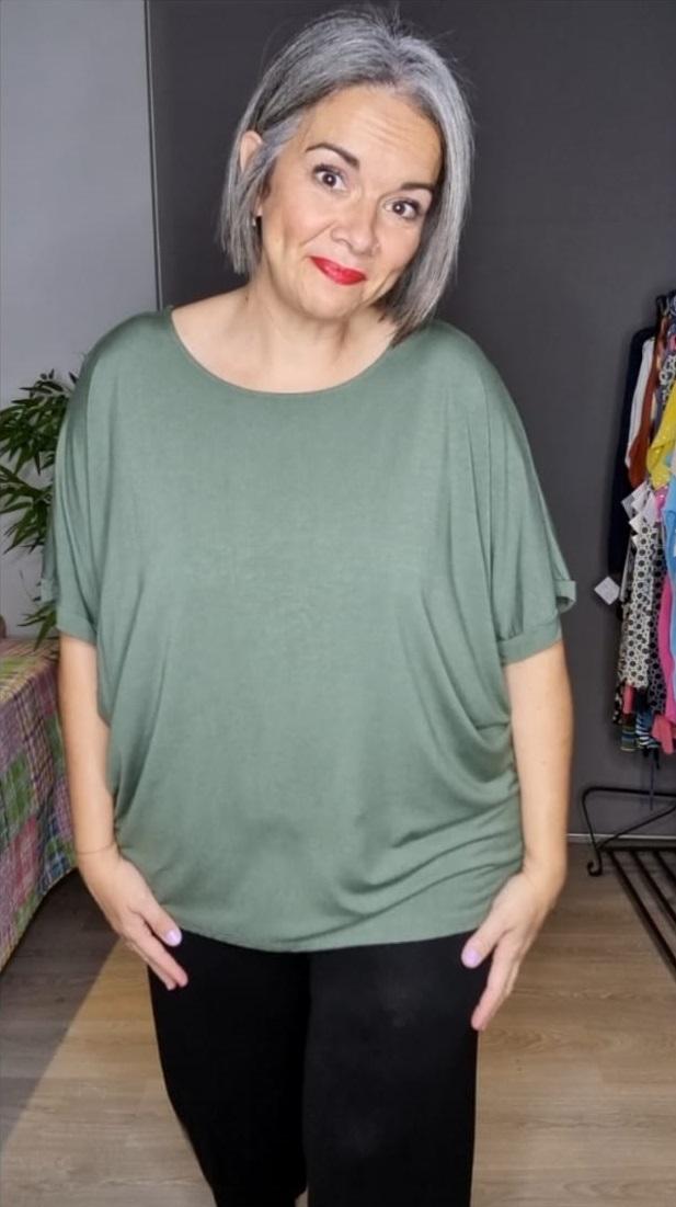 M -3303 Camisetas lisa Caqui ( Tallas Recomendadas 46 a 56)